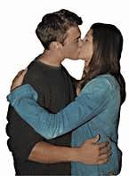 picture of a couple kissing